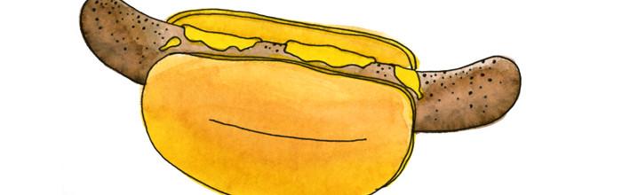 Salsichas no Pão