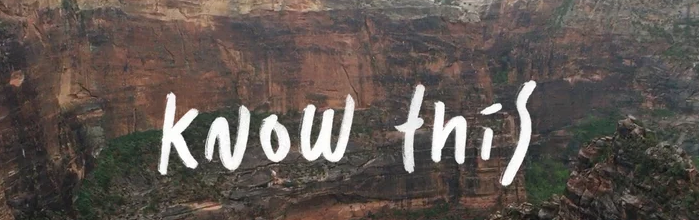 "Inspirational Mondays – ""Know This"""